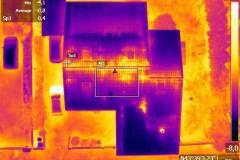 Image thermique nadir d'une toiture