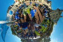 Prise de vue 360° lors d'une manifestation