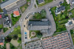 Vue du ciel drone thermo luxembourg lorraine metz thionville