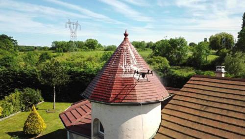 Vue du ciel drone thermo luxembourg lorraine metz thionville démoussage